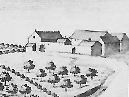 Vues et agrandissements du château de Presles et des bâtiments de la « Grande Cense du Château »