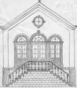 Croquis de la façade de la Maison Communale rénovée en 1875