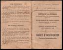 Carnet d'identification délivré par le Comité de Secours